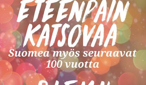 """Opiskelija- ja nuorisojärjestöjen RIEMU-paraati Porissa 12.7. """"Meidän Suomemme on yhdenvertainen, vastuullinen ja eteenpäin katsova!"""""""