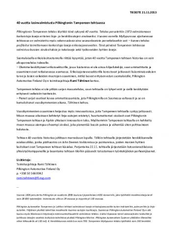 2013-tiedote_pilkington_tampere_40_vuotta.pdf