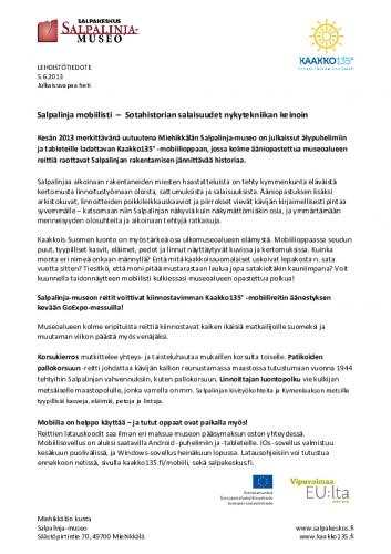 tiedote_miehikkala_salpalinja-museo_mobiilisti_5.6.2013.pdf