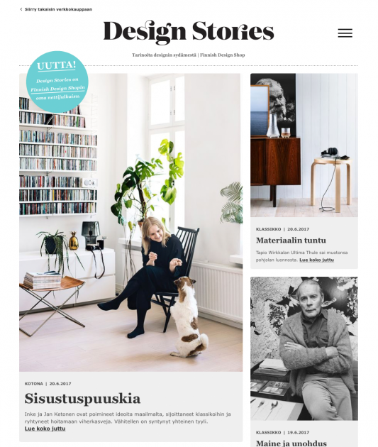finnish design shop lanseeraa design stories. Black Bedroom Furniture Sets. Home Design Ideas