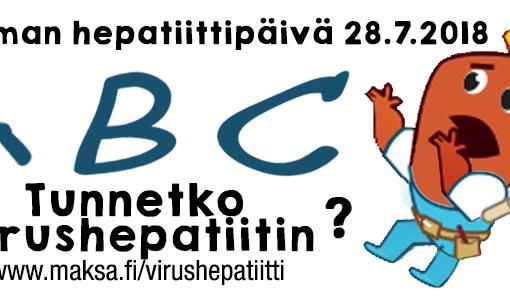 Maailman hepatiittipäivä 28.7.2018: Voit itsekin välttää C-hepatiitin – tiesitkö miten se tarttuu?