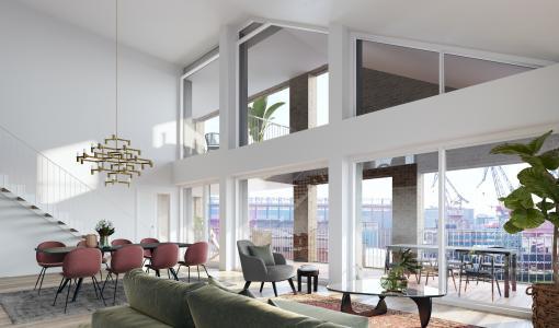 Skanskan ensimmäinen asuntokohde Helsingin Telakkarannassa on rakenteilla ja myynnissä