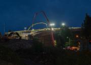 Suomen suurin betonisilta: kannen valu kesti viisi vuorokautta