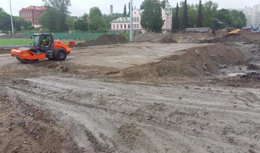 Ranta-Kartanossa katutyöt alkoivat Kyösti Kallion kadulla