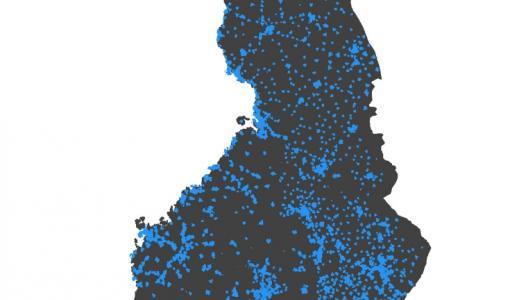 Vajaa 90 % suomalaisista kodeista 100 megan mobiilipeiton alla