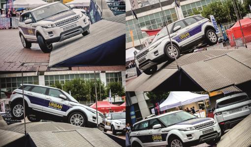 Urbaani maastoajokokemus Land Rover Terrapod ajettavissa Helsingin Jäähallilla 19. – 22.10