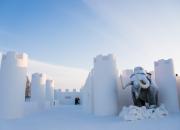 Eläimet ihastuttavat Kemin lauantaina avatussa LumiLinnassa