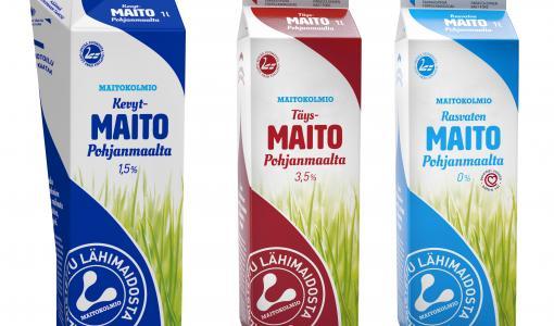 Maitokolmiolle uudenlainen maitopakkaus ensimmäisenä maailmassa