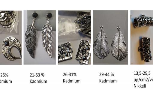 Metallikoruista löytyi jälleen kadmiumia