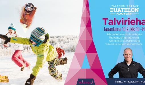 Valtteri Bottas Duathlon Talvirieha lauantaina - Valtteri Bottas paikalla