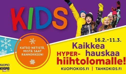 Kuopion alue valjastetaan lasten isoksi hiihtolomapuistoksi
