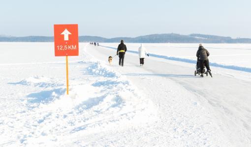 Finland Ice Marathon -luistelurata tulee täysimittaiseksi maanantaina 19.2.2018