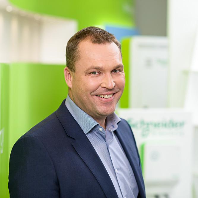 Schneider Electric Finland Oy:n toimitusjohtaja Jani Vahvanen