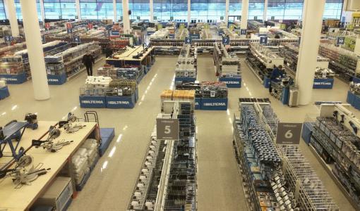 Uudistetussa Lappeenrannan Biltemassa itsepalveluostosten tekeminen on helppoa