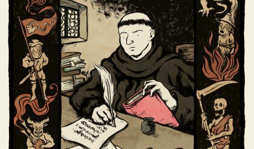 Lutherin aika ja maailma heräävät eloon sarjakuvaromaanin sivuilla