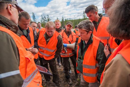 ilkka-vaara-ja-eric-raunio-kertovat-metsanhoidon-suunnittelusta-eustafor2015-kuvateemu-lahtinen.jpg