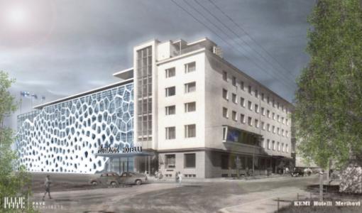Perinteikäs Merihovi uudistuu Lapin suurimmaksi hotellikiinteistöksi