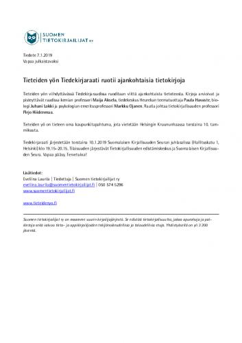 tiedote-tiedekirjaraati-ruotii-ajankohtaisia-tietokirjoja-tieteiden-yossa-10.1.2019-3.pdf