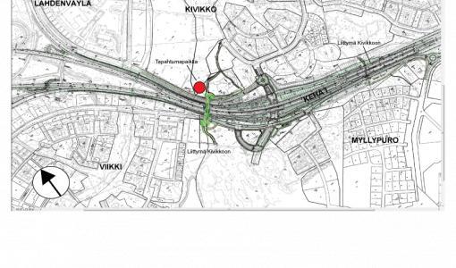 Parkbron i Vik över Ring I är öppen för allmänheten