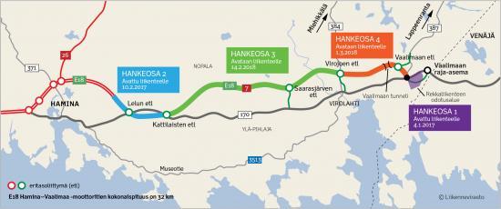E18 Hamina Vaalimaa Moottoritie Avautuu Liikenteelle