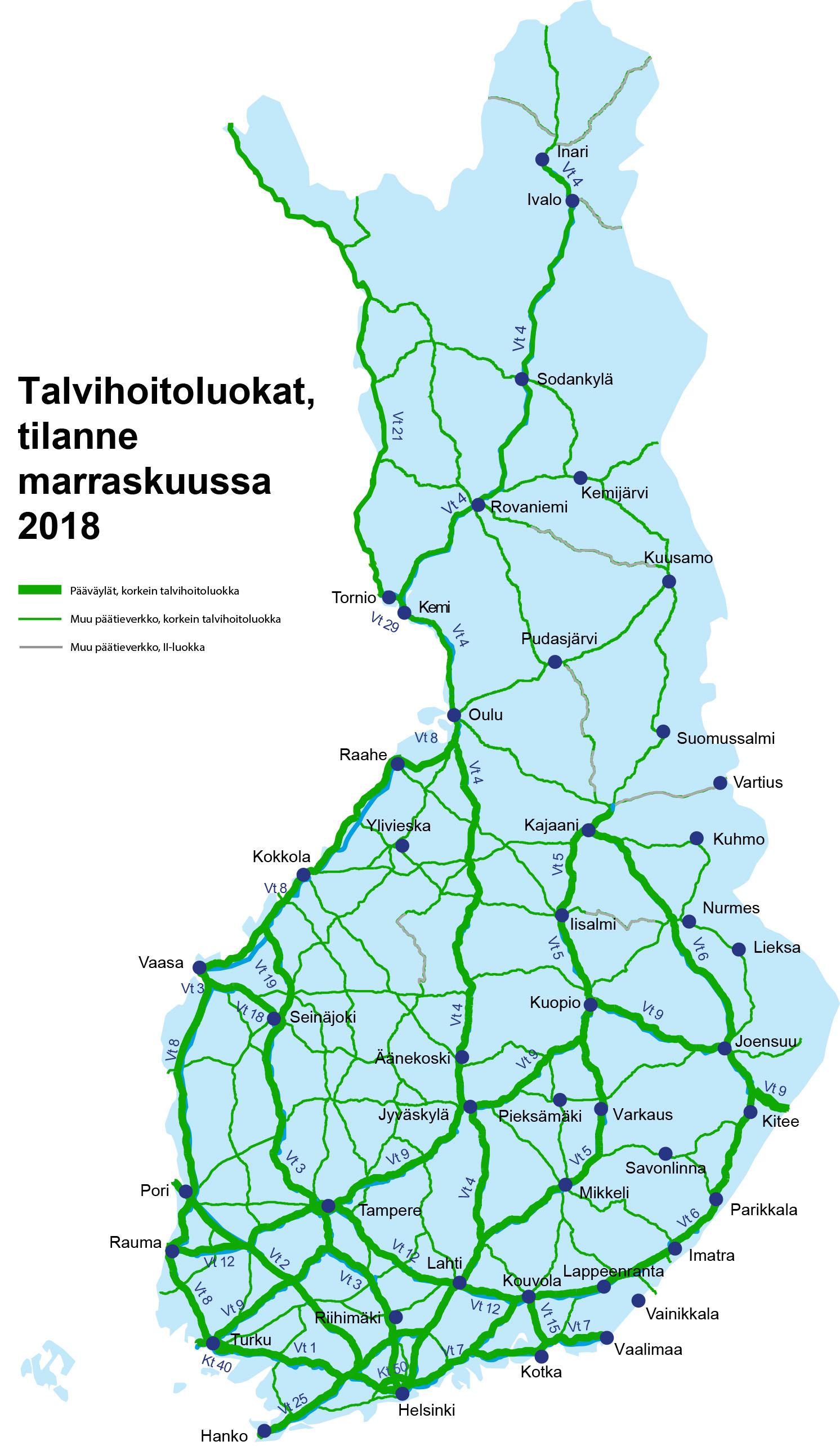 Suomen Teita Hoidetaan Hoitoluokkien Mukaan Korkeimmissa