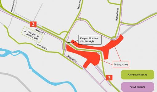 Liikenne siirtyy Valtatien 18 uudelle linjaukselle heinäkuun alussa