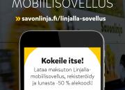 Savonlinja lanseeraa alan monipuolisimman mobiilisovelluksen