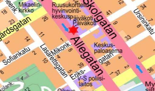 Rakennustyö Puistokadulla 18.7.2017