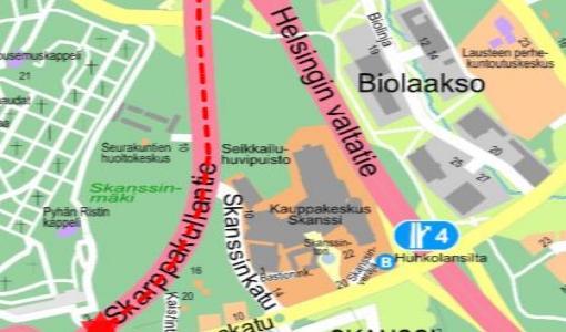 Vihertyö Skarppakullantiellä 18.7.2017