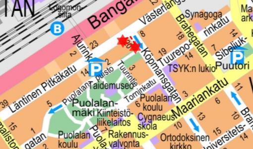 Katon maalaustyö Kauppias- ja Läntisen Pitkäkadun kulmassa 19-20.7.2017