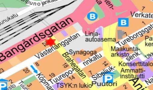 Kadunrakennustyö Brahenkadulla 19.7.2017
