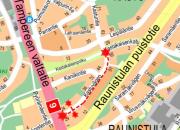 Viemäri- ja vesijohtotyö Kastuntiellä 16.8. - 31.10.2017