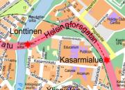 Vihertyö Helsinginkadulla 18.8.2017