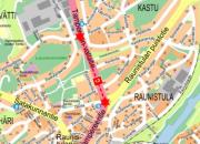 Valaistustyö Tampereentiellä 6.11.2017