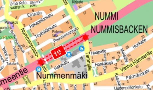 Päällystystyö Hämeentiellä 14.11.2017