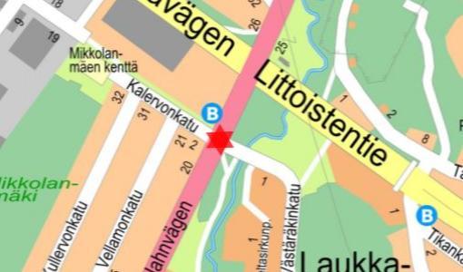 Liikennevalot pois käytöstä Jaanintien ja Västäräkinkadun risteyksessä 4.1.2018