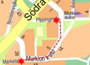 Kadunrakennustyö Murkionkadulla 5.1 - 30.11.2018.