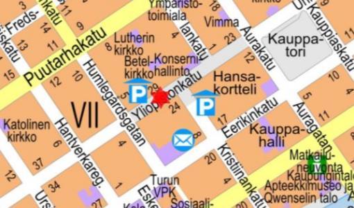 Nostotyö Yliopistonkadulla 8. - 9.1.2018