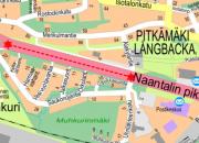 Vihertyö Naantalin pikatiellä 16 - 17.1.2018