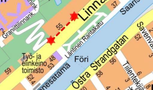Kadunrakennustyö Linnankadulla 6.3. - 30.12.2018