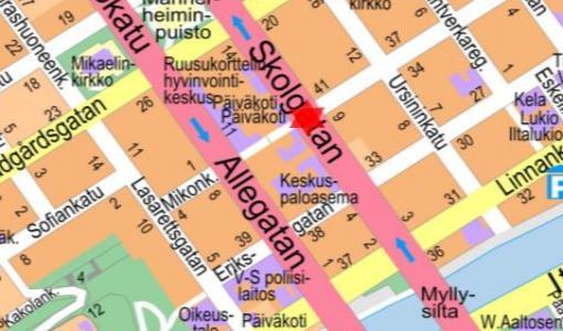 Koulukadun ja Yliopistonkadun risteyksen liikennevalot pois toiminnasta 18.4.2018