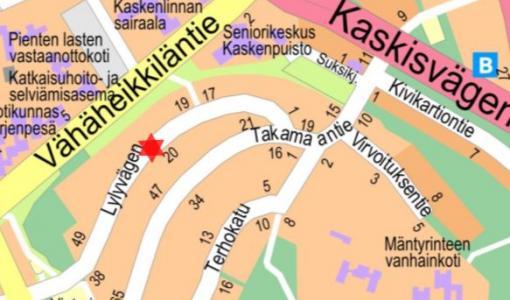 Vesijohto- ja viemärityö Lylyntiellä 18. - 20.4.2018