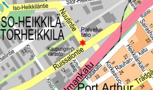 Kaapelin kaivutyö Nuutintiellä 11.7.2018