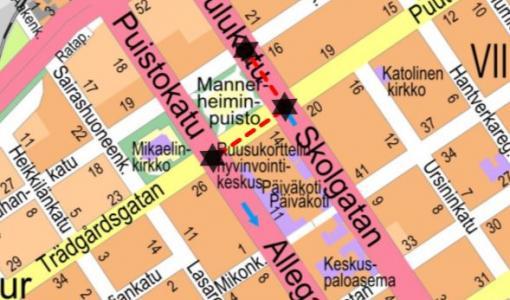 Asfaltointityö Koulu- ja Puutarhakadulla 8 - 16.10.2018