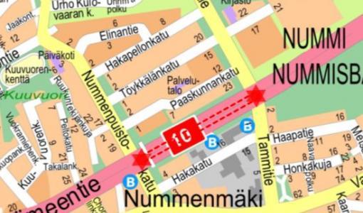 Valaistustyö Hämeentiellä 13. - 14.11.2018