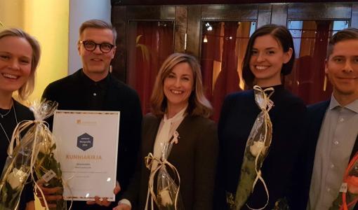 Roosa nauha palkittiin jälleen vuoden parhaana yhteiskunnallisena kampanjana