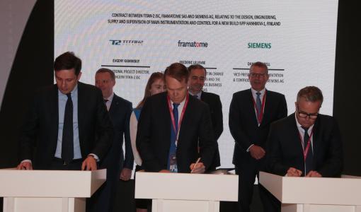 TITAN-2 ja Framatome solmivat sopimuksen Hanhikivi 1 -ydinvoimalan automaatiojärjestelmän toimituksesta