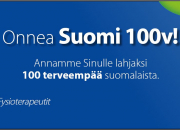100 vuotiaalle Suomelle lahjaksi 100 terveempää suomalaista
