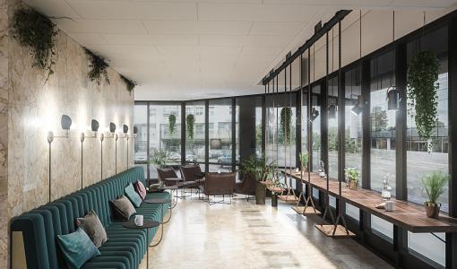 NREP saneerasi 80-luvun toimiston moderniksi monikäyttäjätoimistoksi paraatipaikalle Pasilaan