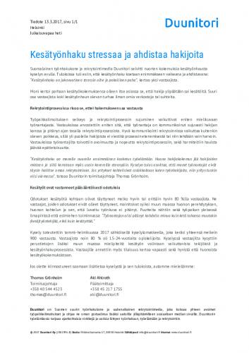 20170313-duunitori-lehdisto-cc-88tiedote-kesa-cc-88tyo-cc-88nhaku-stressaa-ja-ahdistaa-hakijoita.pdf
